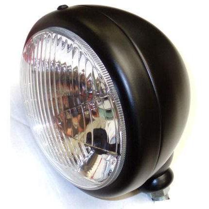 "Caterham Style 5.3/4"" Single Headlight Lamp Black"