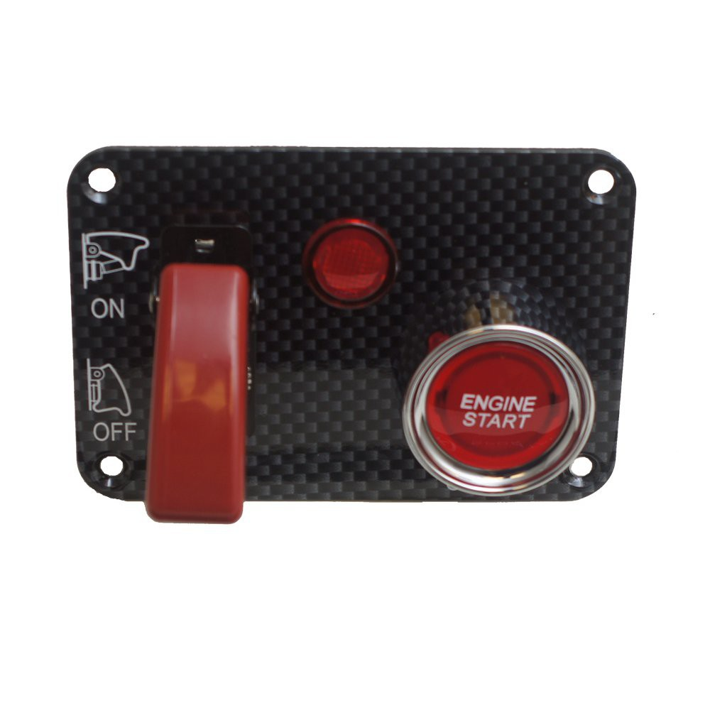 Ignition Switch Panel Flip Switch With LED And Push Button