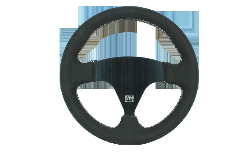 SPA 270mm Black suede steering wheel