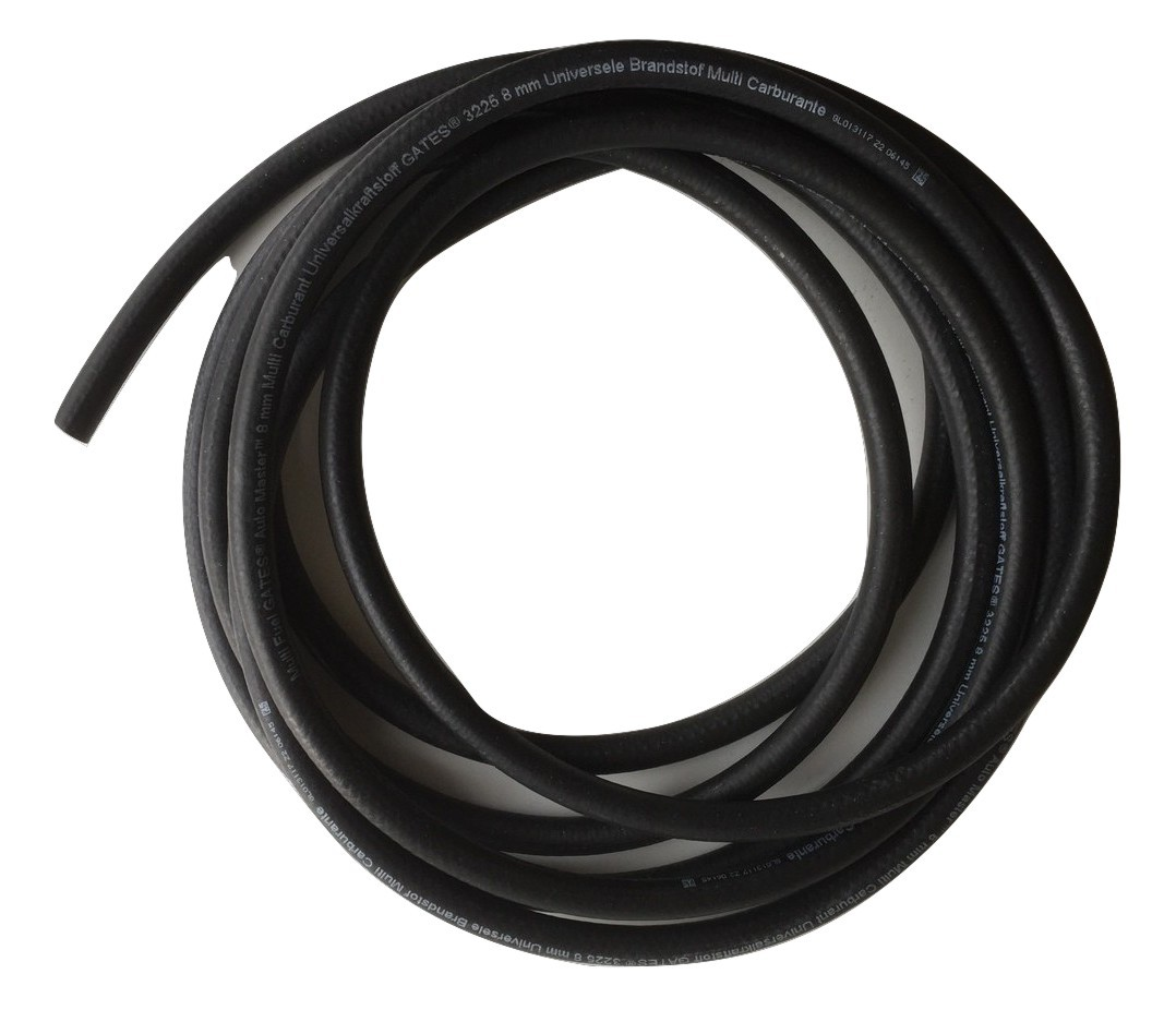 Universal 8mm Rubber Fuel Pipe 1m